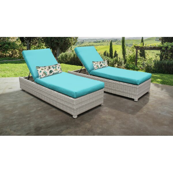 Genevieve Sun Lounger Set with Cushion (Set of 2) by Rosecliff Heights