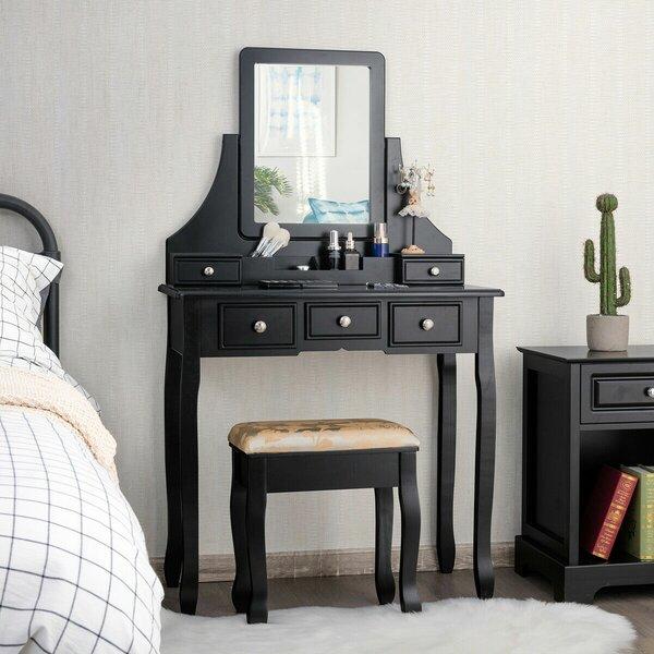 Quintero Vanuty Set with Mirror by House of Hampton