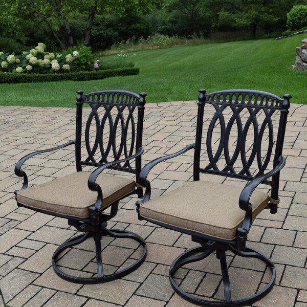 Otsego Patio Chair with Cushion (Set of 2) by Darby Home Co Darby Home Co