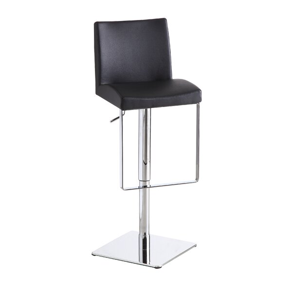 Cranesville Adjustable Height Swivel Bar Stool by Wade Logan