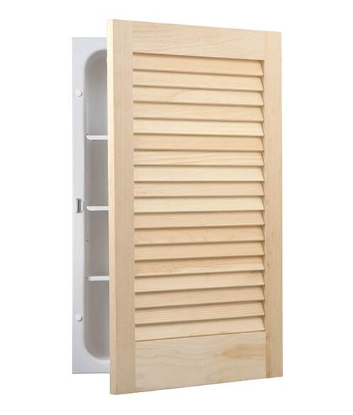 Louver 16 W x 26 H Recessed Cabinet by Jensen