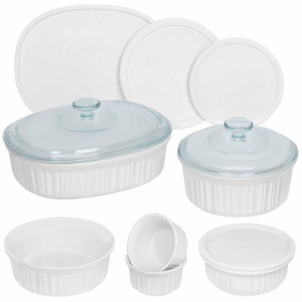 French 12 Container Food Storage Set by Corningware