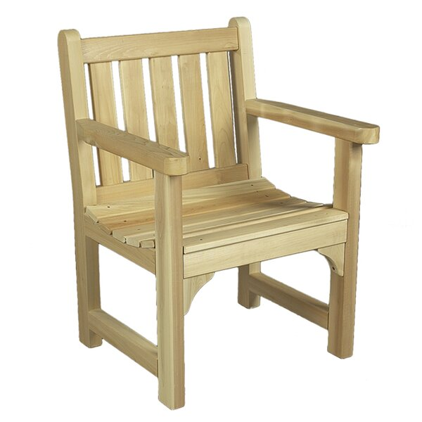 English Garden Cedar Wood Adirondack Chair by Rustic Natural Cedar Furniture