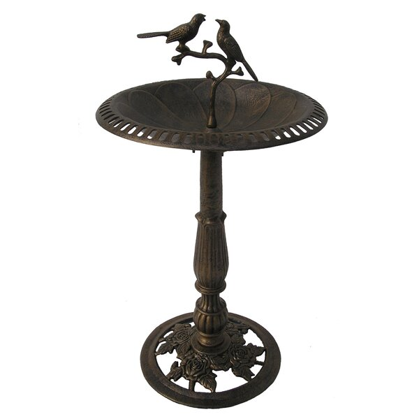 Lotus Twin Birds Birdbath by Oakland Living