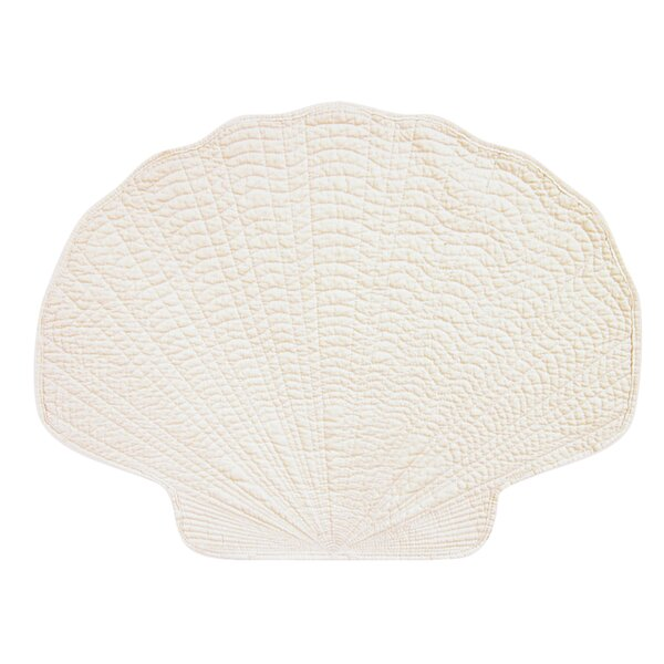 Quilted Shell Placemat (Set of 6) by C&F Home