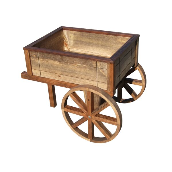 Wood Wheelbarrow Planter by Sams Gazebos