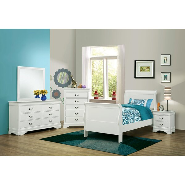 Highfill Storage Sleigh Bed by Alcott Hill