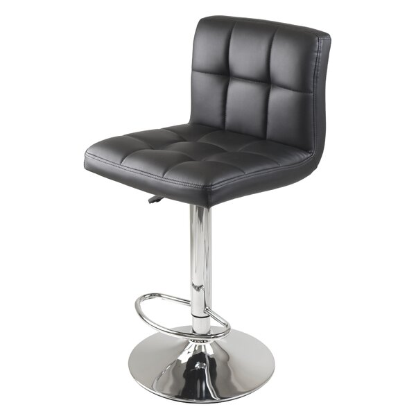 Stockholm Adjustable Height Swivel Bar Stool by Winsome
