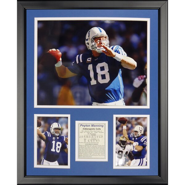 NFL Indianapolis Colts - Manning Framed Memorabili by Legends Never Die