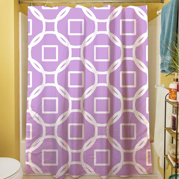 Modern Geometric Lavender Shower Curtain by Manual Woodworkers & Weavers