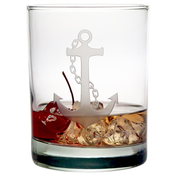 Mansbury Anchor Rocks Glass (Set of 4) by Beachcrest Home