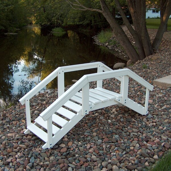 Decorative Garden Bridge with Posts and Rails by Prairie Leisure Design