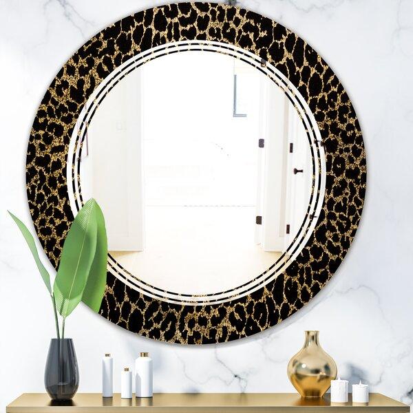 Triple C Leopard Fur Safari V Glam Frameless Wall Mirror
