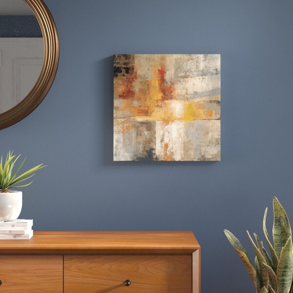 Silver and Amber Crop Painting Print on Wrapped Canvas by Langley Street