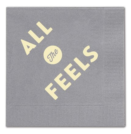 All the Feels Cocktail Napkin (Set of 25) by Breathless Paper Co.