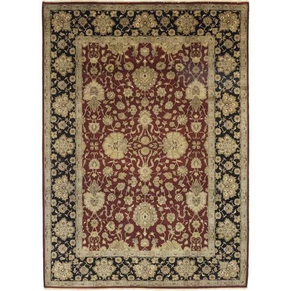 One-of-a-Kind Corrado Hand-Knotted Wool Red/Beige Indoor Area Rug by Astoria Grand