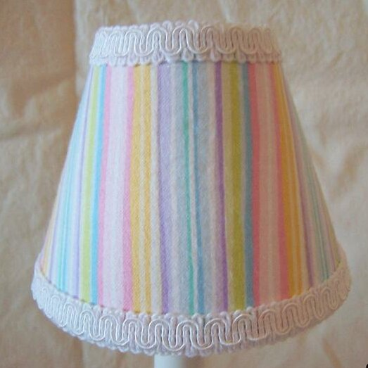 Super Sweet Stripe 4 H Fabric Empire Candelabra Shade ( Clip On ) in Blue/Green/Pink