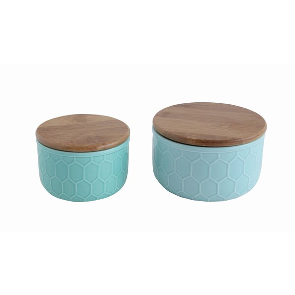 Bamboo Lid 3 Piece Kitchen Canister set by Mint Pantry