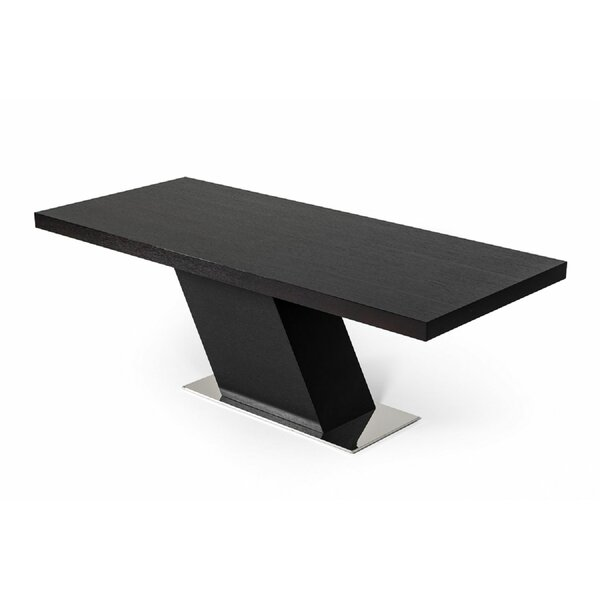 Clower Pedestal  Rectangular Dining Table by Orren Ellis