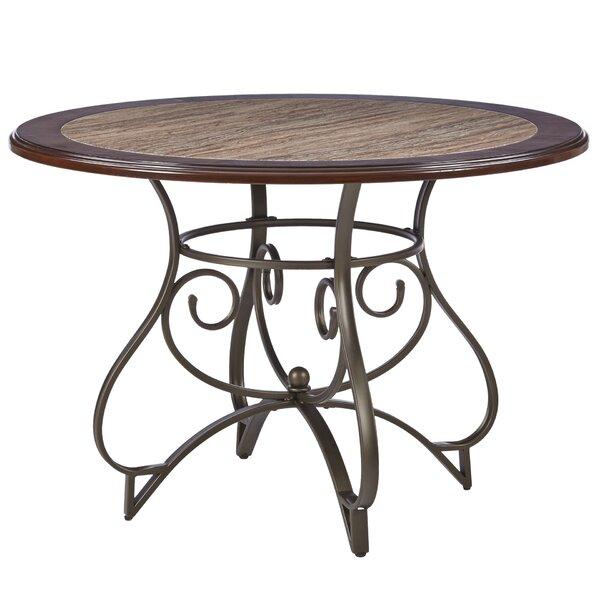 Corinne Metal Dining Table by Fleur De Lis Living