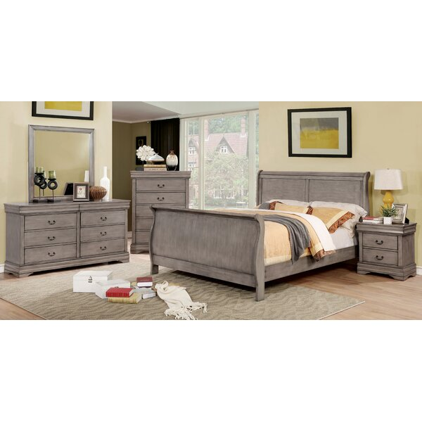 Hinrichs Sleigh Bed by Charlton Home