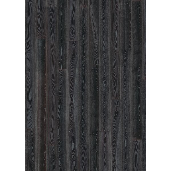Shine 7-3/8 Engineered Ash Hardwood Flooring in Black/Silver by Kahrs