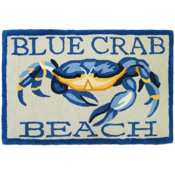 Providence Blue Crab Beach Area Rug by Breakwater Bay