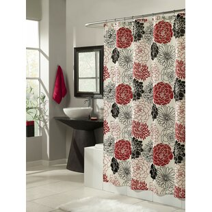 Full Bloom Microfiber Shower Curtain