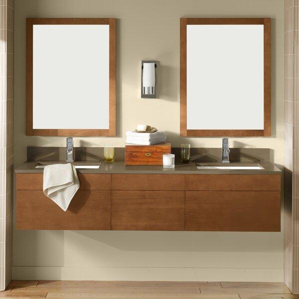 Rebecca 65 Wall Mount Double Bathroom Vanity Set