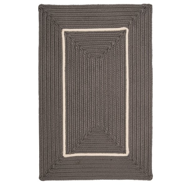 Doodle Edge Gray Border in Border Indoor/Outdoor Area Rug by Colonial Mills