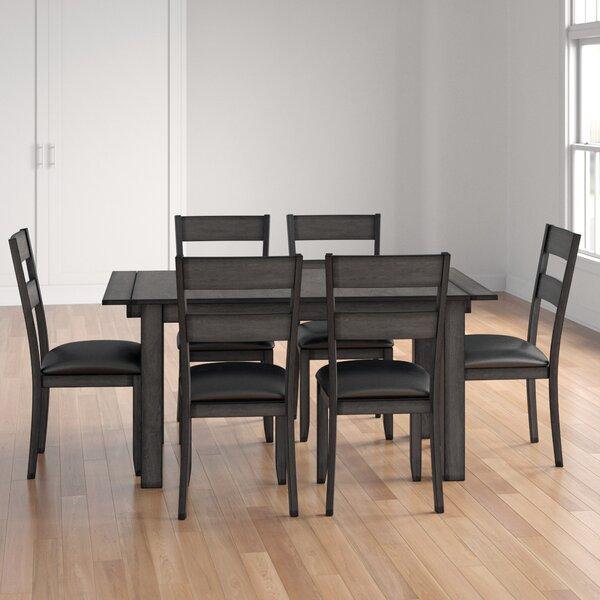 Lolington 7 Piece Extendable Solid Wood Dining Set by Loon Peak Loon Peak