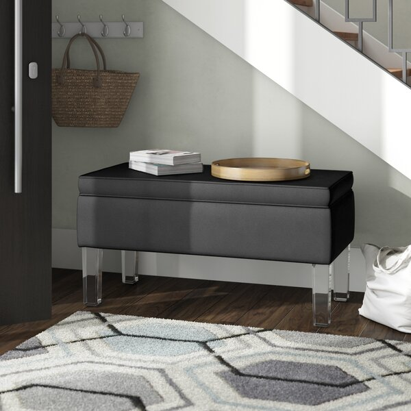 Davis Upholstered Storage Bench by Wade Logan