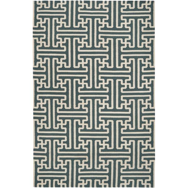 Brinda Peacock/Green Area Rug by Bloomsbury Market