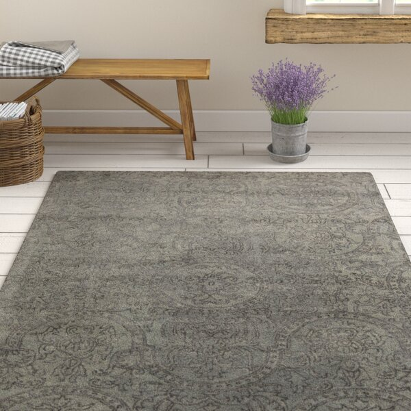 Alivia Gray Abstract Area Rug by Ophelia & Co.