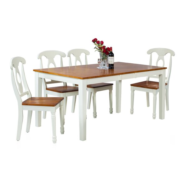 Downieville-Lawson-Dumont Modern 5 Piece Solid Wood Dining Set by Loon Peak