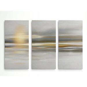 'Soft Sea' Graphic Art Print Multi-Piece Image on Wrapped Canvas by Highland Dunes