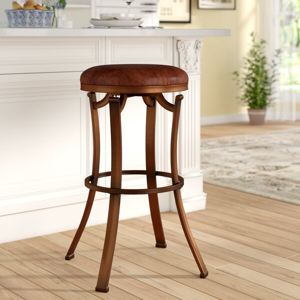 Rheingold 30 Swivel Bar Stool by Alcott Hill