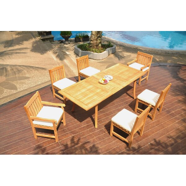 Northpoint 7 Piece Teak Dining Set by Rosecliff Heights