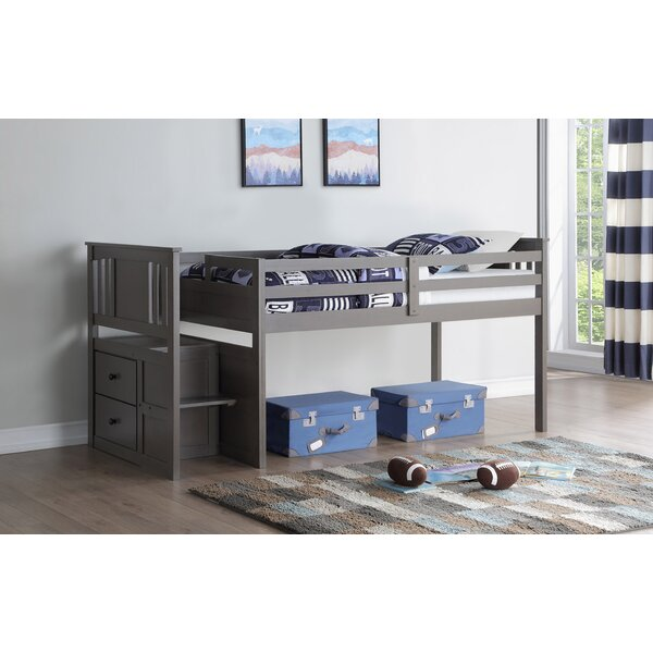Colangelo Stairway Twin Loft Bed by Harriet Bee