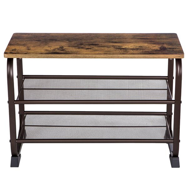 7 Pair Shoe Storage Bench by Williston Forge