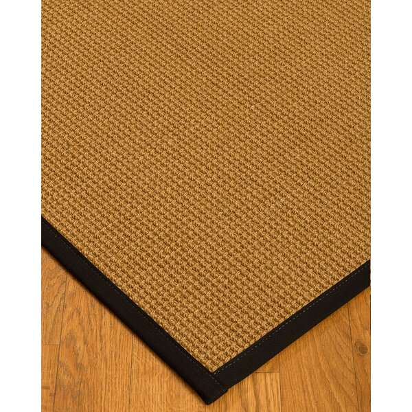 Aula Border Hand-Woven Brown/Black Area Rug with Free Rug Pad by Bayou Breeze