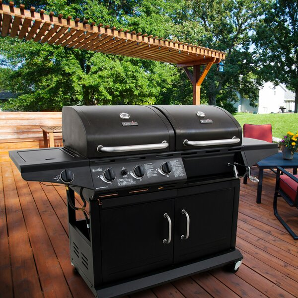 3-Burner Deluxe Combo Propane Gas and Charcoal Grill by Char-Broil