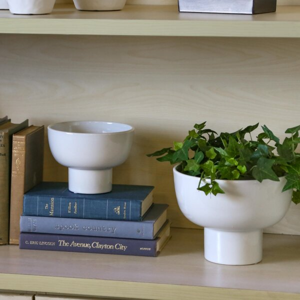 Grayer Ceramic Round Pot Planter Set (Set of 2) by Orren Ellis