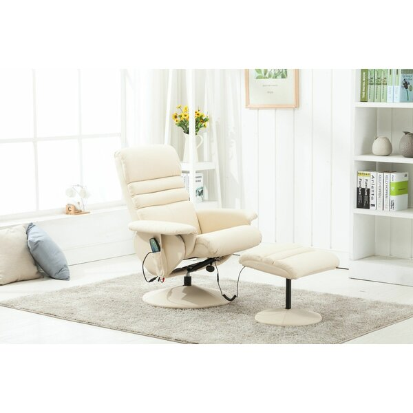 Electric Reclining Massage Chair with Ottoman [Ebern Designs]