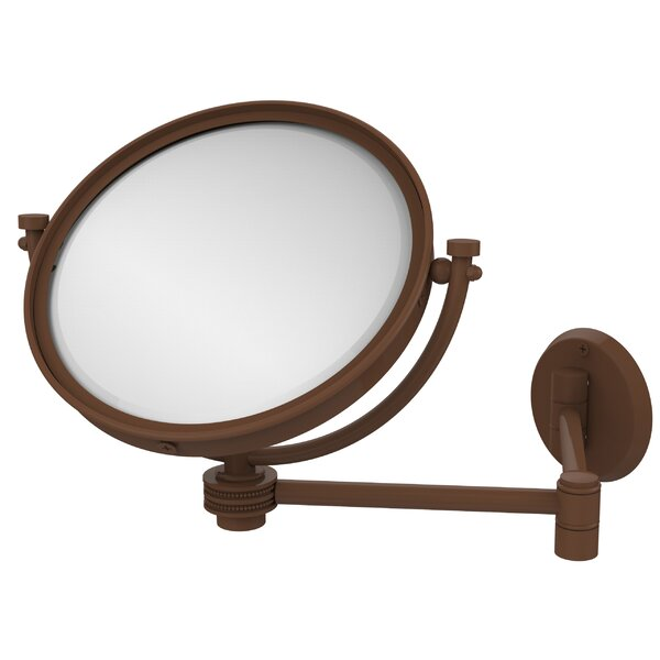Extend 3X Magnification Wall Mirror with Dotted Detail by Allied Brass