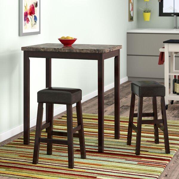 Deitch 3 Piece Counter Height Dining Set by Latitude Run