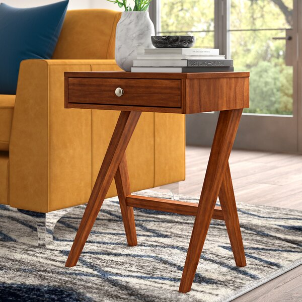 Karlov End Table by Mercury Row