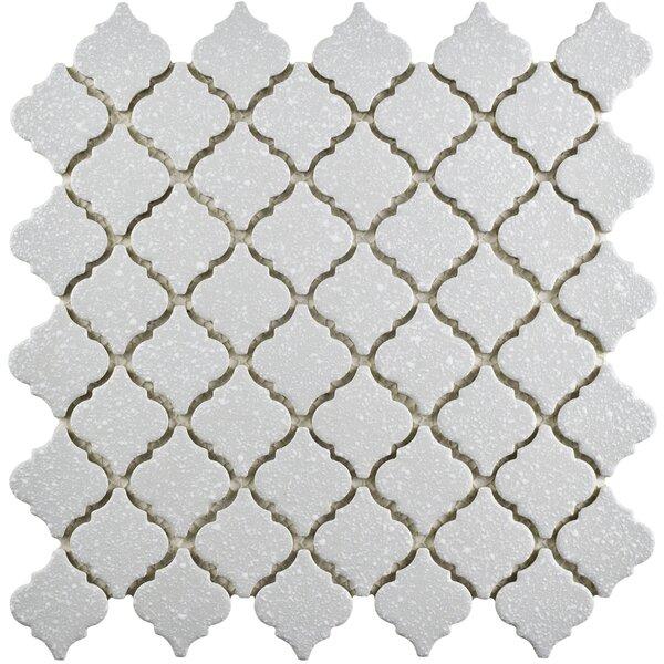 Pharsalia Minerva 12.38 x 12.5 Porcelain Mosaic Floor and Wall Tile in Gray by EliteTile