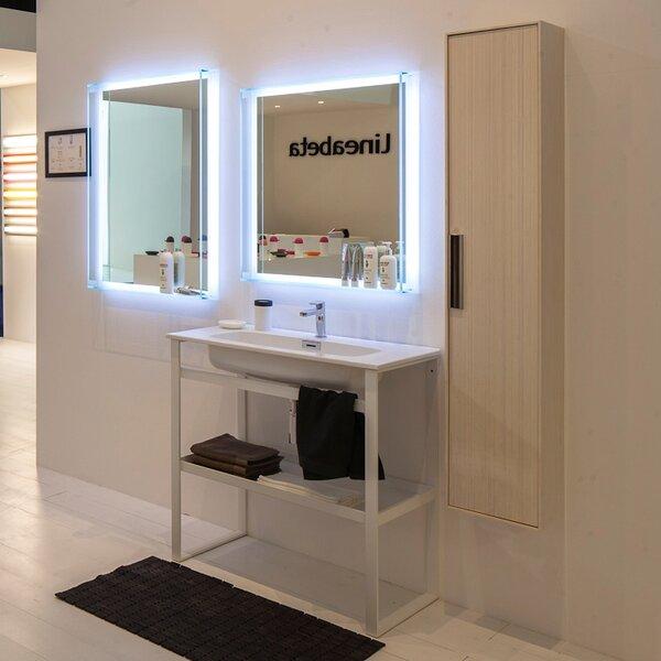 Linea 35 Single Free Standing Bathroom Vanity Set by WS Bath CollectionsLinea 35 Single Free Standing Bathroom Vanity Set by WS Bath Collections
