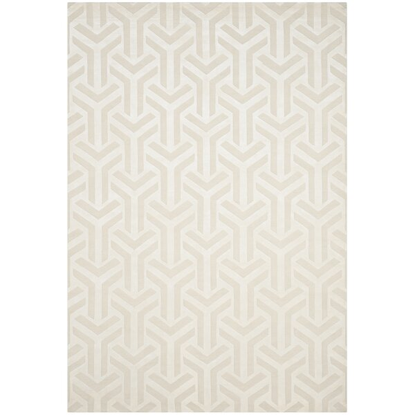 Suruga Hand-Knotted Ivory Area Rug by Brayden Studio